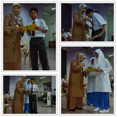 Semua ketua tingkatan menerima helaian kempen Budaya Kelas untuk