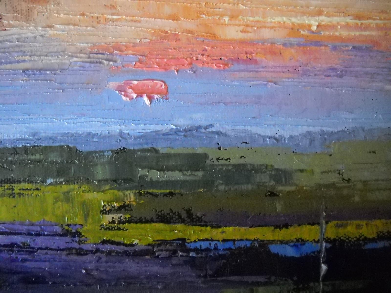 Palette Knife Painters Marsh Landscape Palette Knife Painting
