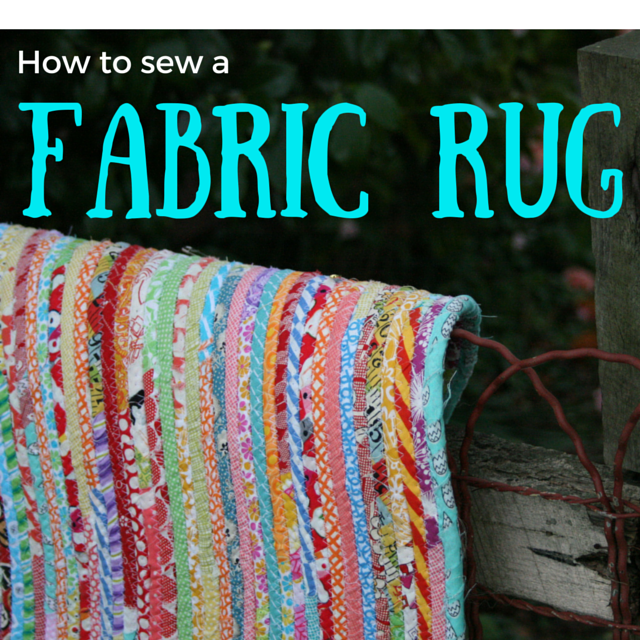 Ric-Rac: How To Sew A Fabric Rug : Tutorial