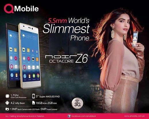 Sonam Kapoor photoshoot for QMobile print ads