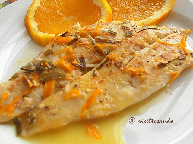 Merluzzo a forno in salsa d'arancia ricetta di pesce