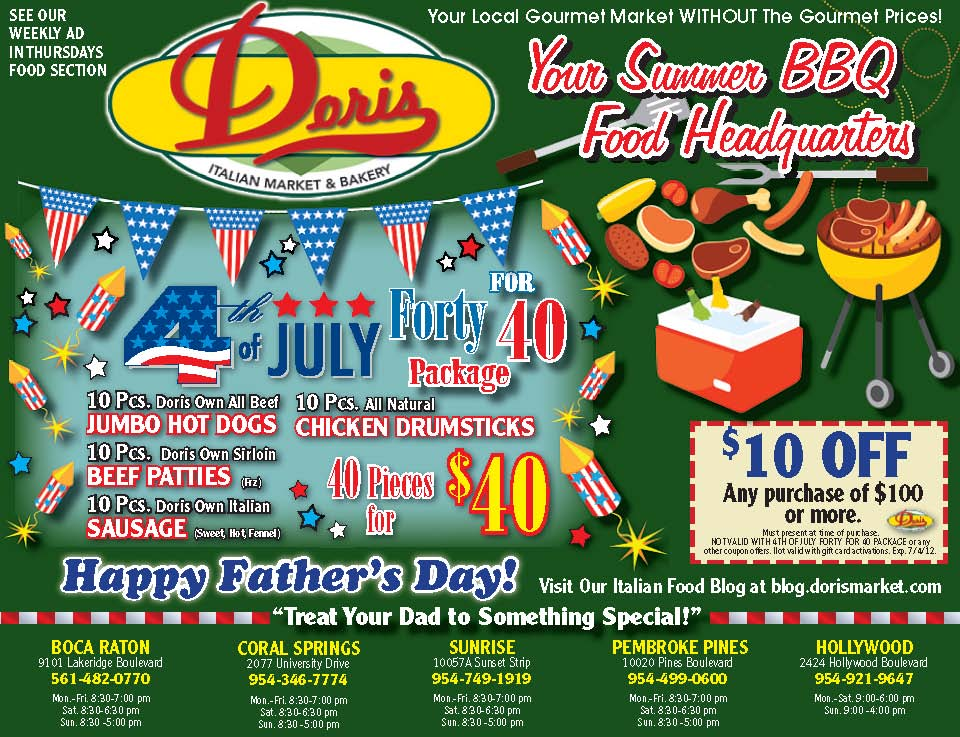 At The Table With Doris Italian Market Father S Day 4th Of