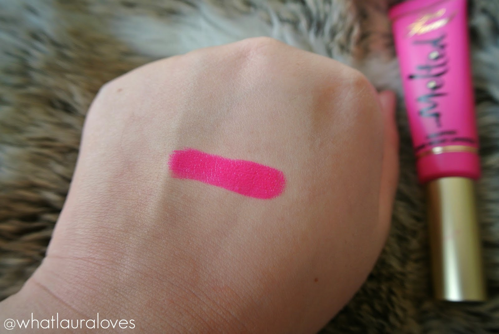 Too Faced Melted Lipstick in Melted Fuchsia Review and Swatches