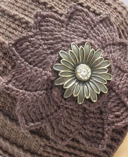 Ленивое колесо цветок крючком