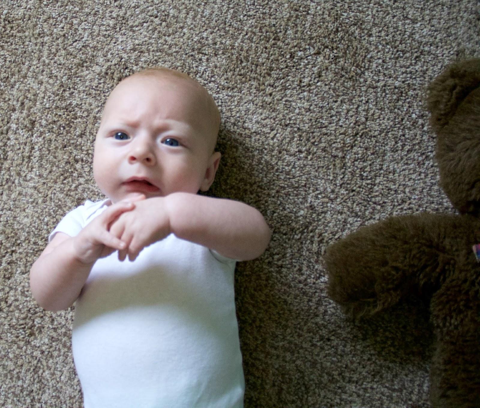 4 month old baby boy development