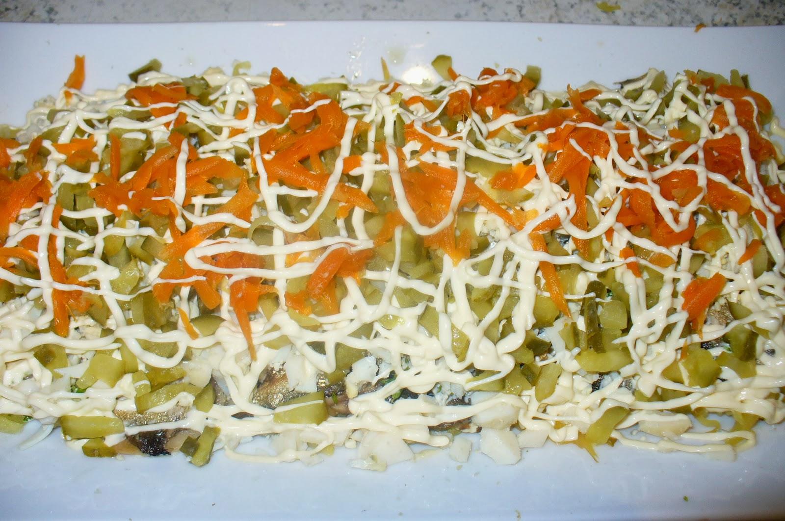 Салат слоеный на зиму рецепт пошагово в