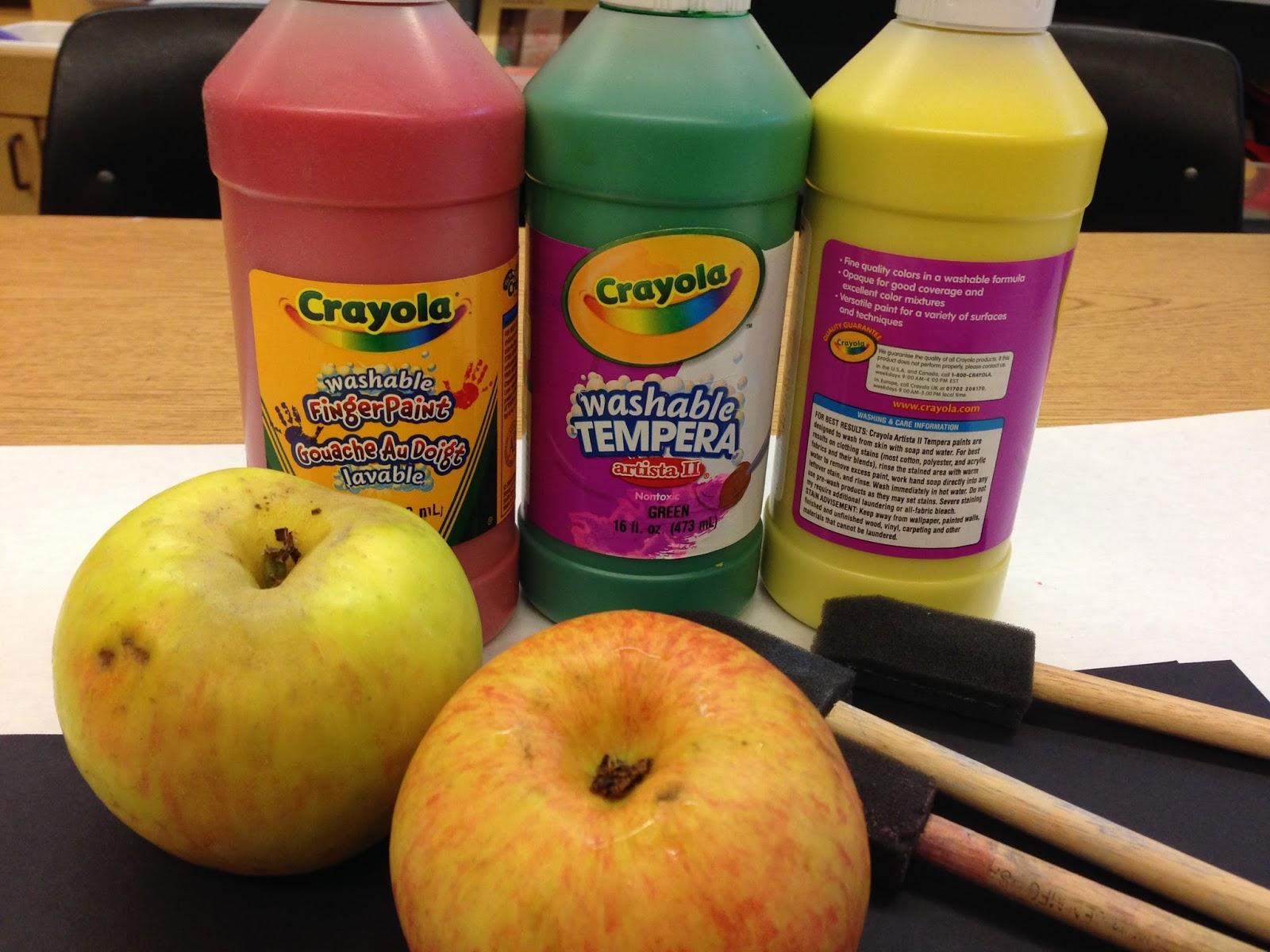 apple prints, kindergarten apples, apple unit