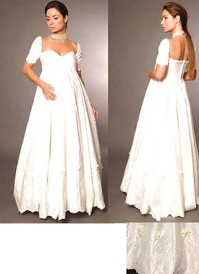 избор на рокля за бременна булка