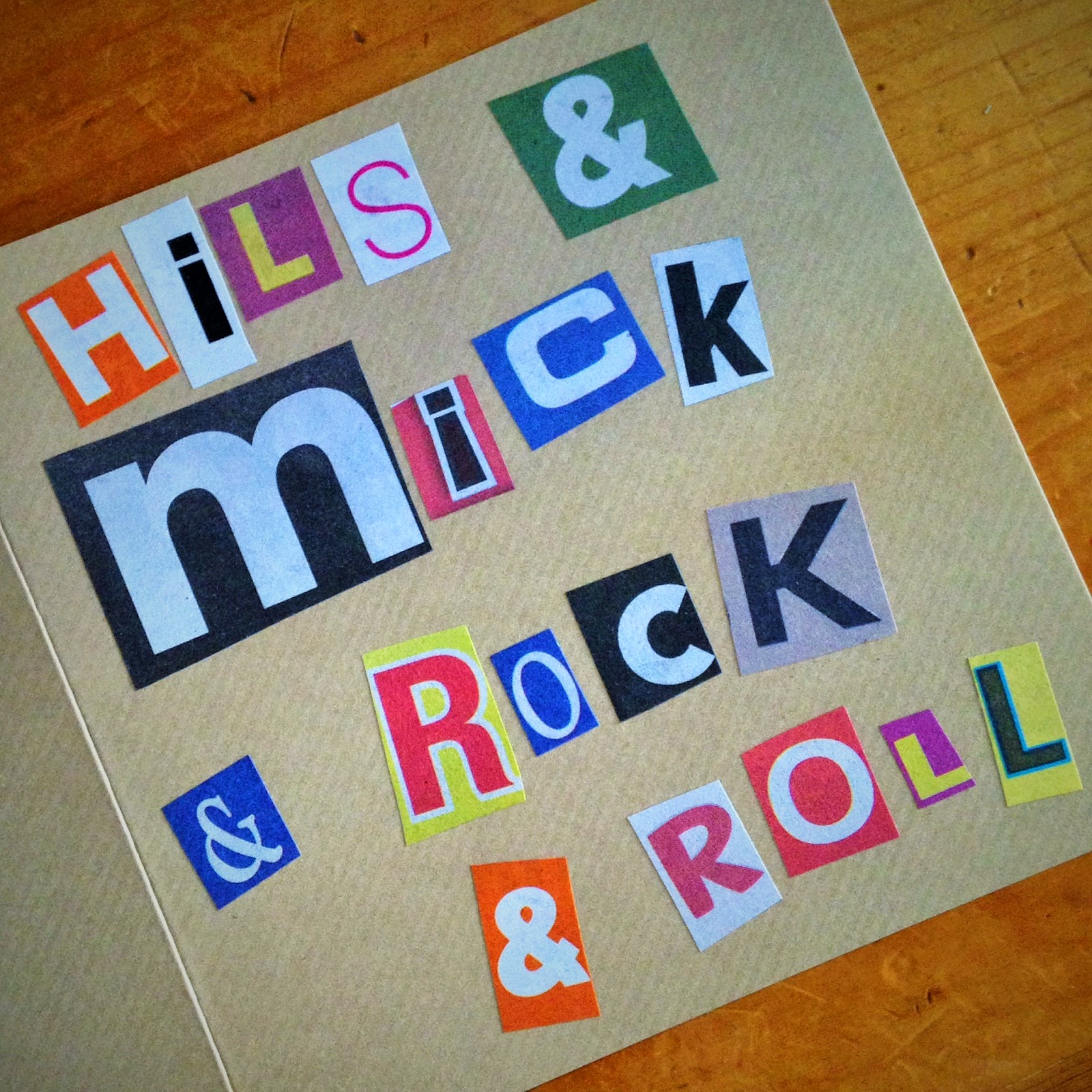 handmade card hils and mick and rock and roll