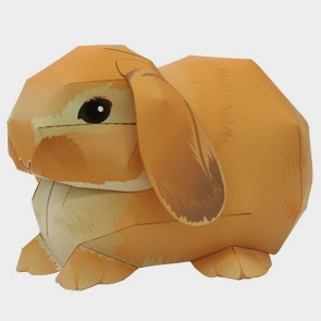 Holland Lop Rabbit Papercraft