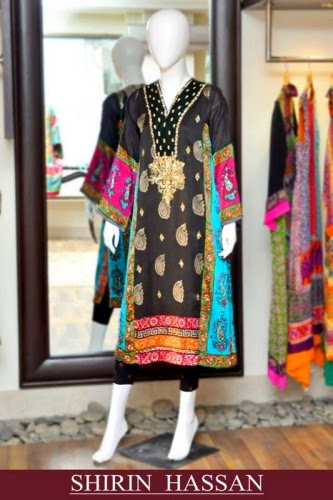Shirin Hassan New Fall Winter Dresses Collection 2014 For Women And Girls