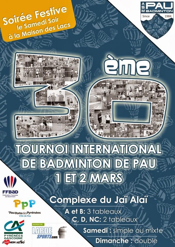 Tournoi de Badminton de Pau 2014