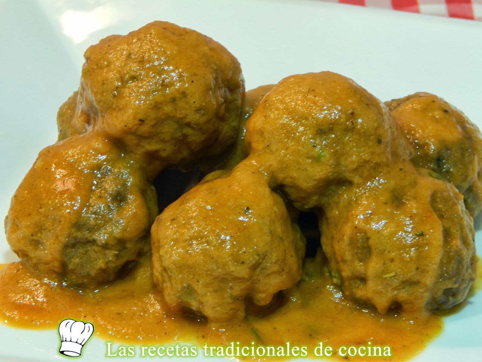 Receta simple de alb ndigas en salsa - Albondigas tradicionales ...