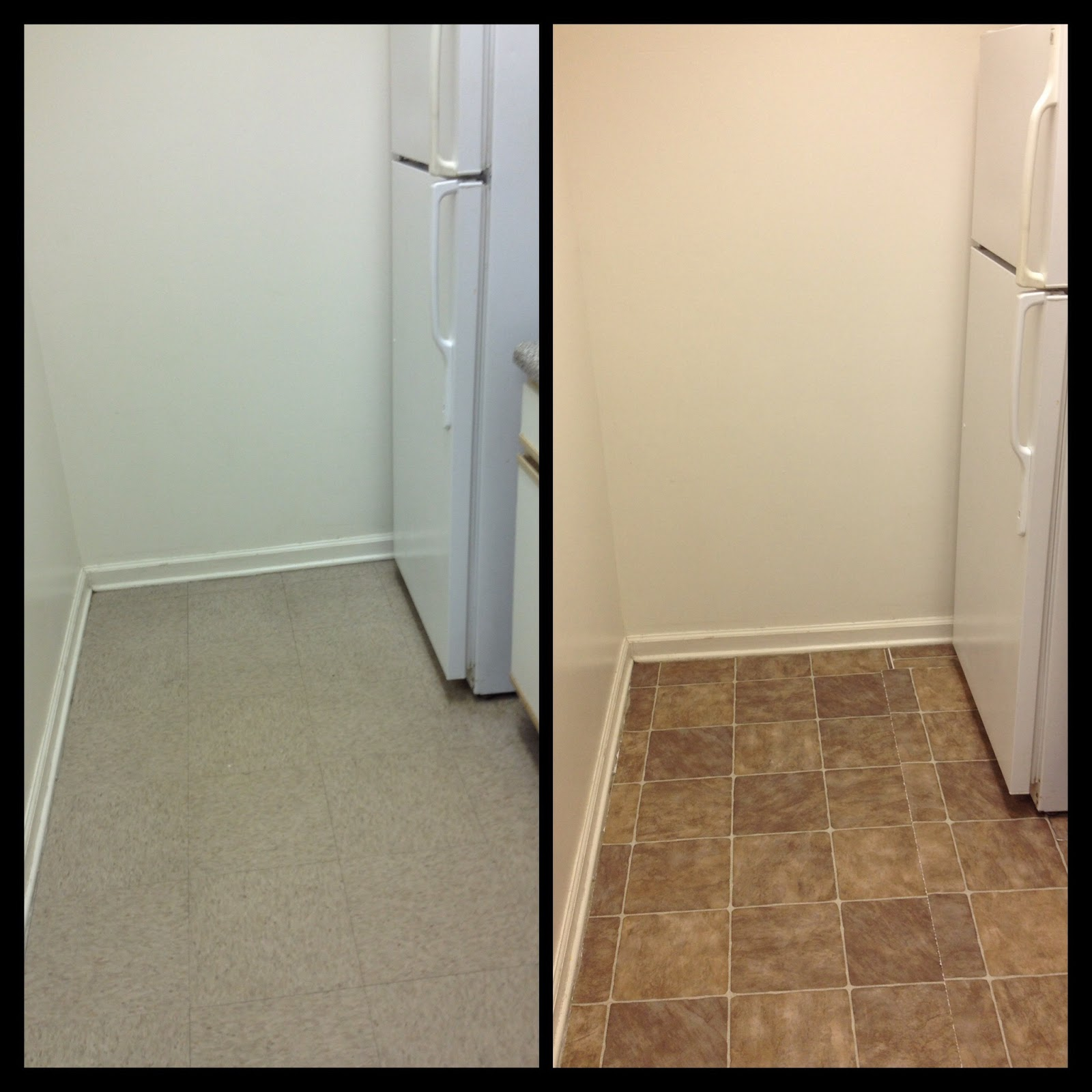 Glam shazam how to temporarily redo your kitchen floor for Removable flooring for renters