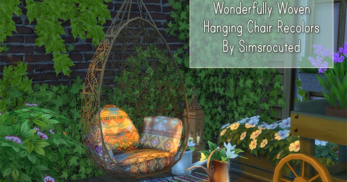 Elegant My Sims 4 Blog: TS3 Wonderfully Woven Hanging Chair Recolors By Simsrocuted