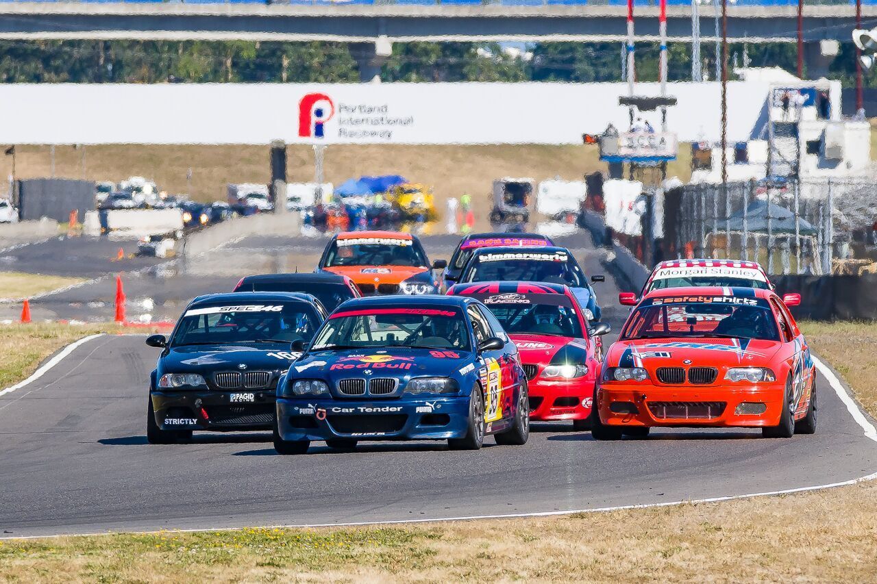The event showcases seven classes of racing including big bore gt spec miata vintage spec racer ford small bore bmw pro 3 and the great american