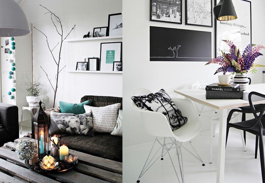 Blanco y negro habitaciones vanguardistas casas ideas - Pintar paredes blancas ...