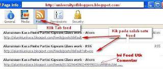 Cara Mengetahui URL Feed Blog