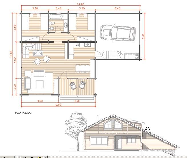 La construcci n planos y modelos de caba as for Planos de construccion