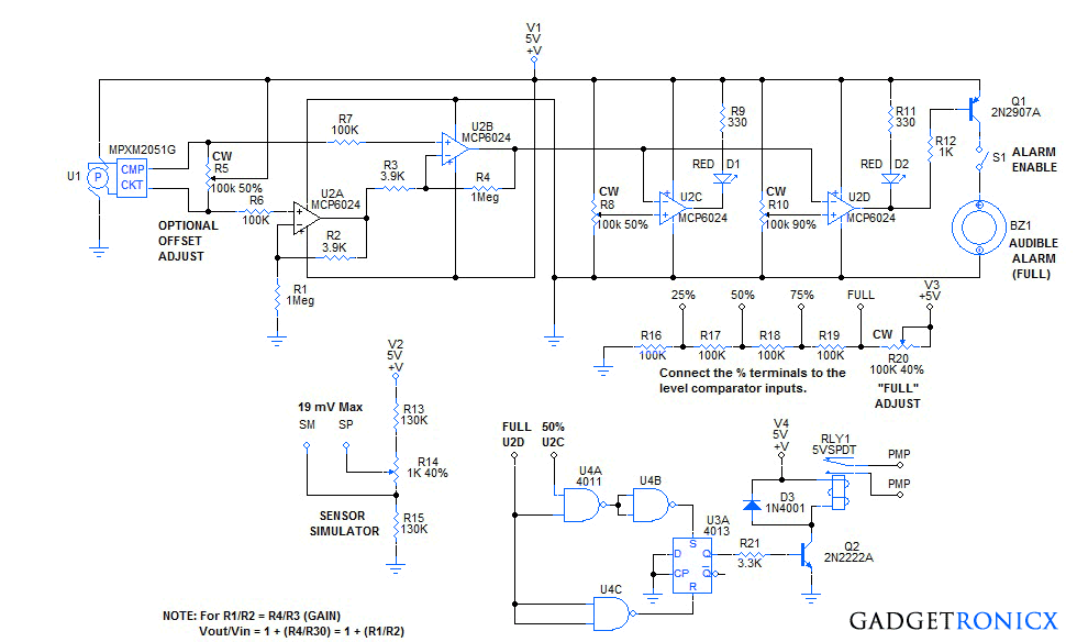 universal-liquid-level-indicator-circuit