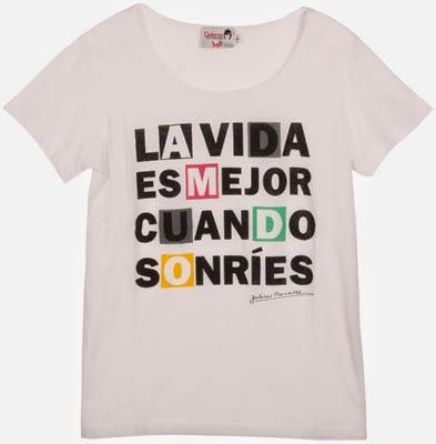 nuevas camisetas con mensajes Dolores Promesas La vida es mejor cuando sonríes