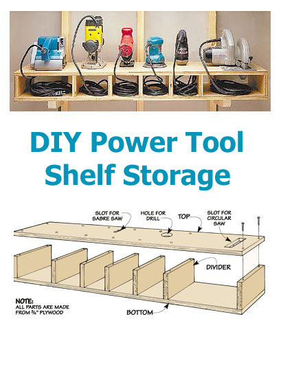 This project is a great way to keep your power tools organized safer and cleaner. Just like most people I have various tools and power tools all over my ...  sc 1 st  Handy u0026 Homemade & DIY Power Tool Shelf Storage | Handy u0026 Homemade