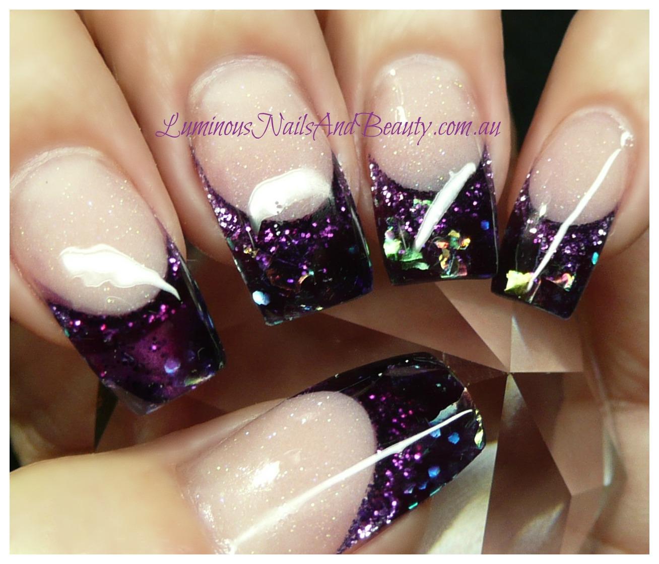 Luminous nails nail design and nails on pinterest for Acrylic nails salon brisbane