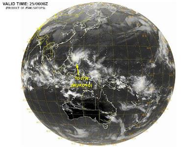 tormenta tropical Wukong (QUINTA), 26 de Diciembre 2012
