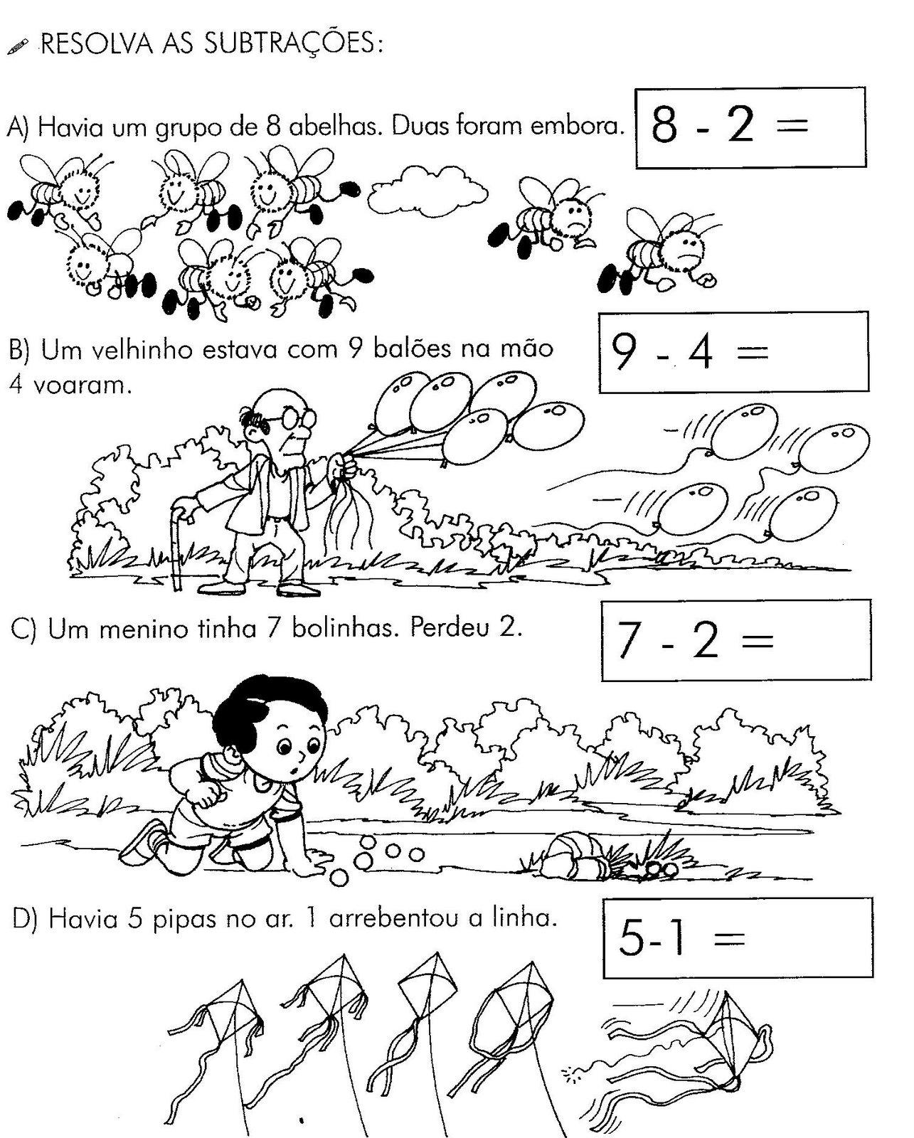 68 Atividades De Matematica Para 1   E 2   Ano Atividades De Adicao E