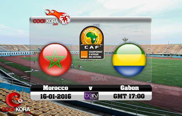 مشاهدة مباراة المغرب والجابون اليوم 16-1-2016 في كأس أفريقيا للاعبين المحليين