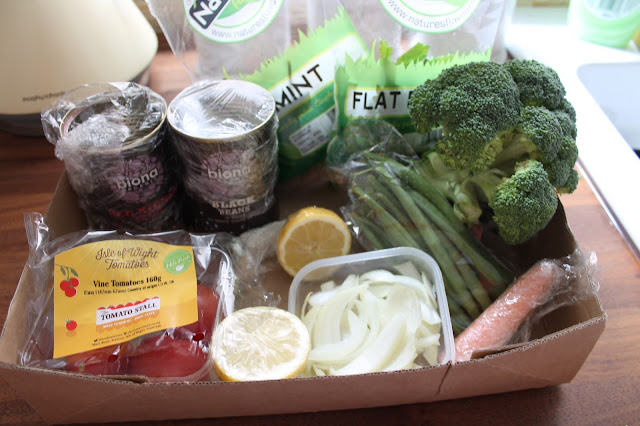 box of food waste