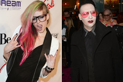 Avril Lavigne and Marilyn Manson