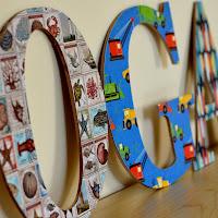 DIY Mod Podge Letters