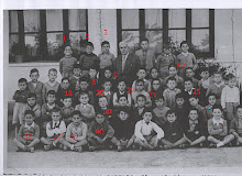Maestro José Romero Sánchez con alumnos clase 2ª. curso 1956/1957
