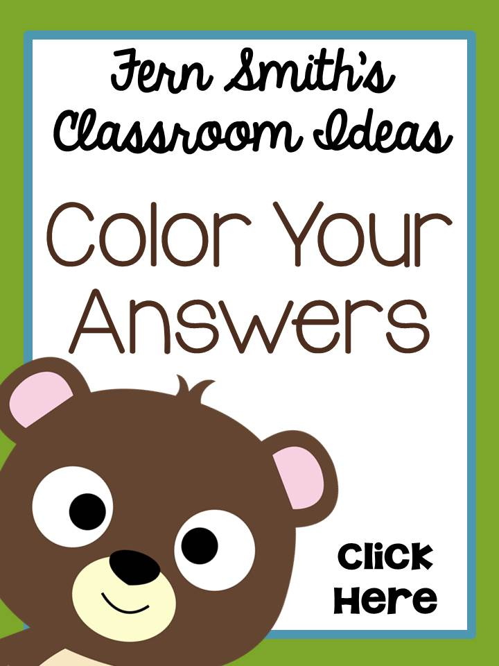 Fern Smith's Classroom Ideas Color Your Answers Web Site