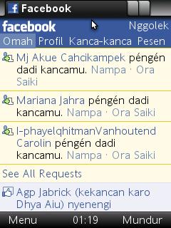 Cara Merubah Bahasa Facebook Menjadi Bahasa Jawa Melalui Opera Mini