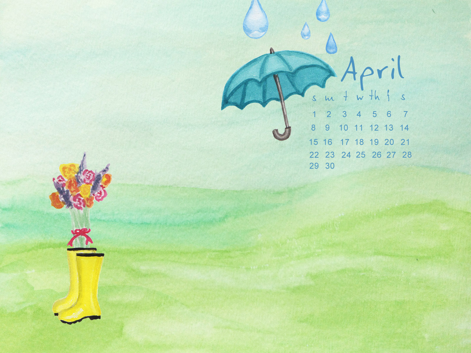 Here is April's background for your computer! Better late than never ...