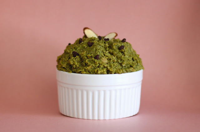 Healthy Sweet Matcha Almond Shortbread Cookie Dough