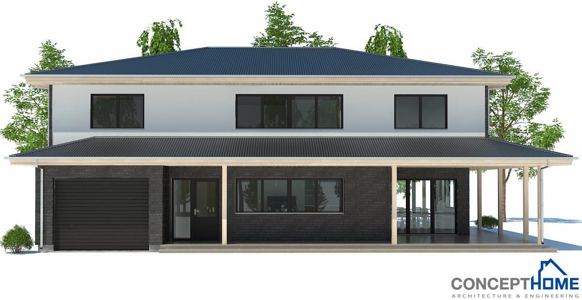 Plantas de casas modernas planta de casa moderna ch179 for Casa moderna 2014 espositori
