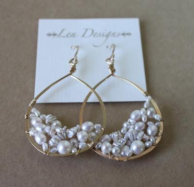 handmade jewelry, pearl earring