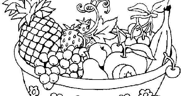 Free download fruits basket coloring page for kids Didi coloring