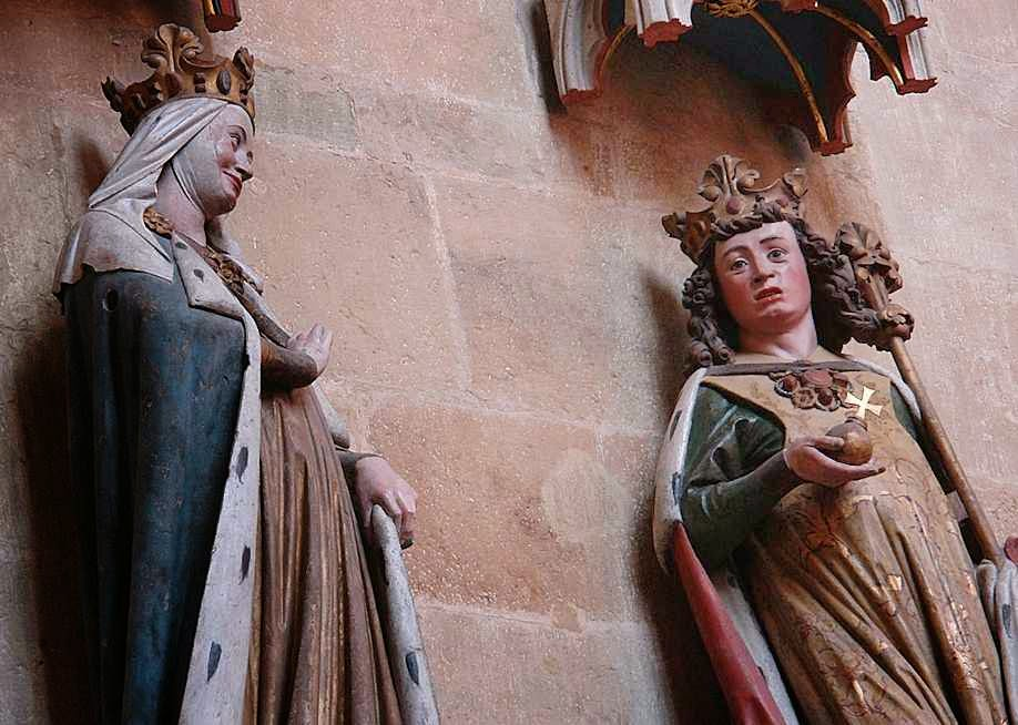 Santa Adelaide e seu esposo Otão I