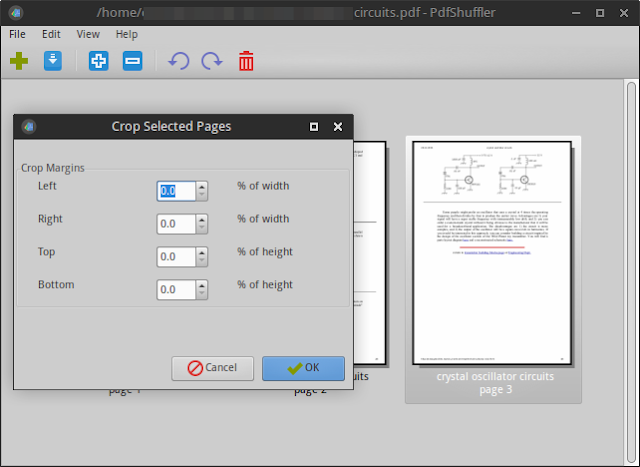 PDFShuffler crop PDF