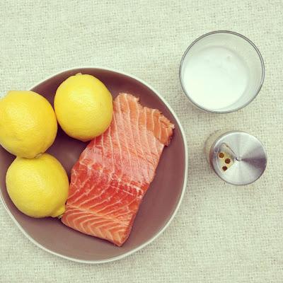 saumon mariné lait de coco