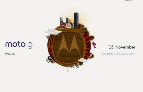 Il 23 novembre 2013 sarà annunciato un nuovo smartphone android 4.3 di fascia media di Motorola