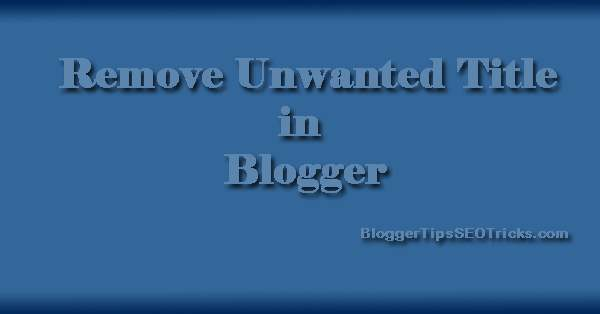 swap your blogger title in posts