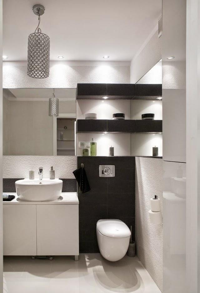 Baños Grises Modernos:10 Baños en color gris y blanco modernos – Colores en Casa