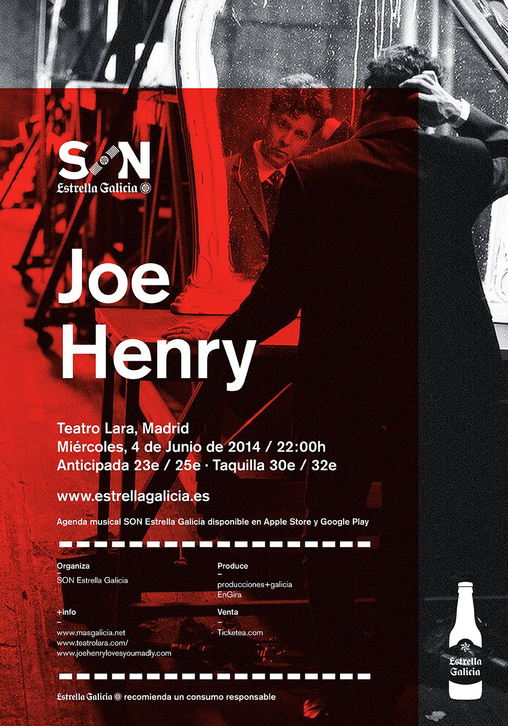 JOE HENRY en concierto en Madrid, 4 Junio, Teatro Lara
