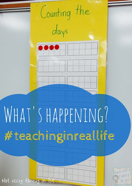 What's Happening in first grade? This is teaching in real life, and it's hard! Fortunately, we can do hard things!