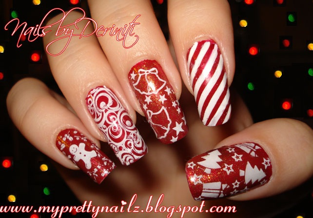 My Pretty Nailz Merry Christmas Mani Christmas Nail Art